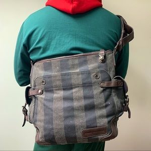 Striped Square Shaped Fcuk Messenger Bag